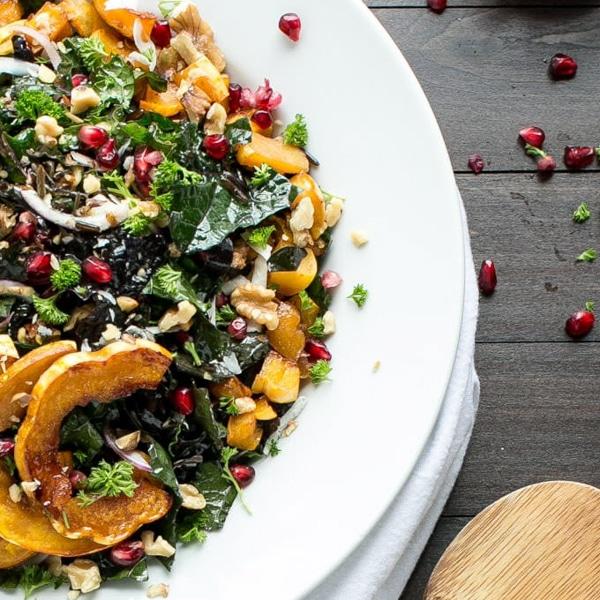 Vegetarian delicata squash main dishes for Thanksgiving.