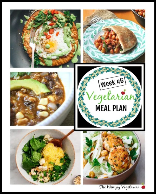 Weekly vegetarian meal plan with tips for omnivores at the table, and prep ahead tips to make dinner easy this week. #EatingClean #HealthyVegetarian #VegetarianRecipes #VegetarianMealPlan #MealPlan #WeeklyMealPlan #eggs #chickpeas #blackbeans #blackbeansoup #healthyrecipe #easyrecipes #easyvegetarianrecipes