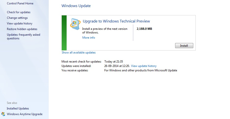 Windows 7 devices getting Windows 10 Tech Preview as a 2 GB ...