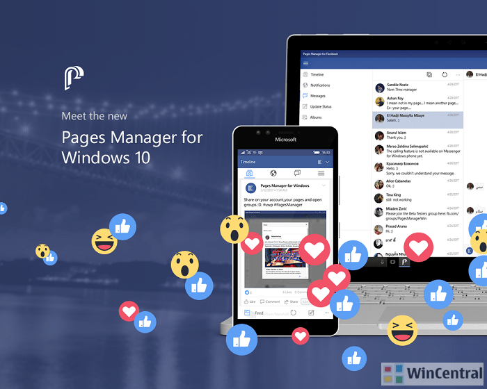 facebook page manager for java mobile