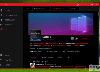 Twitter app Windows 10