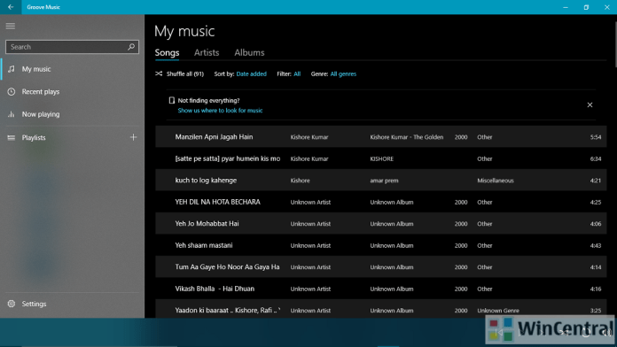 Groove Music with Neon effect