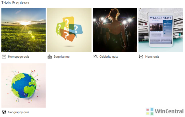 Bing 'Fun & Games' section arrives in India and UK on bing.com