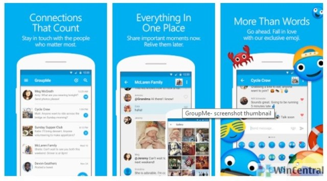 Microsoft's GroupMe for iOS received a new update   WinCentral