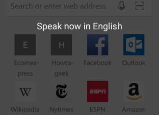 Microsoft Edge on Android - Voice Search