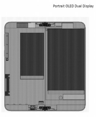 Surface Phone OLED display 3D sketch