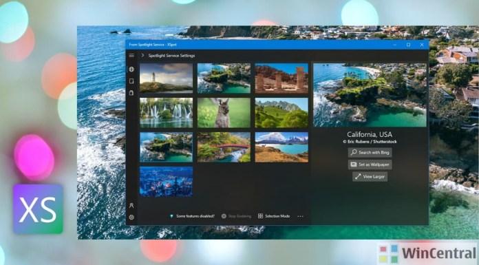 XSpot for Windows 10 Edit