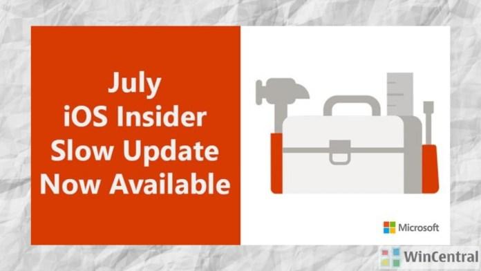 Office Insider iOS Slow Ring
