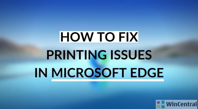 troubleshoot print issues in Microsoft Edge