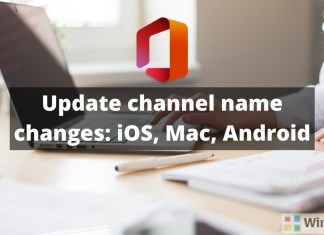 Update channel name changes-iOS-Mac-Android