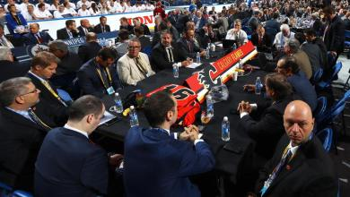 Calgary Flames management and scouts at the second day of the 2016 NHL Entry Draft.