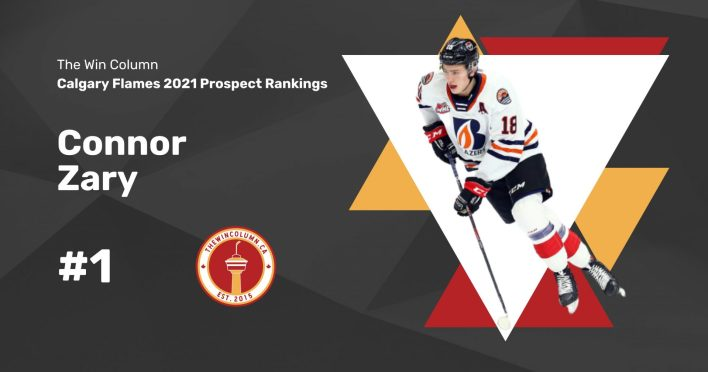 Calgary Flames 2021 Prospect Rankings Featured Image. #1. Connor Zary, Centre. The Win Column.