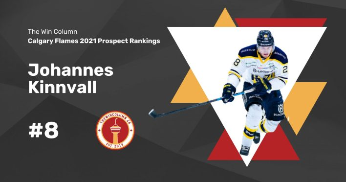 Calgary Flames 2021 Prospect Rankings Featured Image. #8. Johannes Kinnvall, Defenceman. The Win Column.