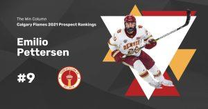 Calgary Flames 2021 Prospect Rankings Featured Image. #9. Emilio Pettersen, Centre. The Win Column.