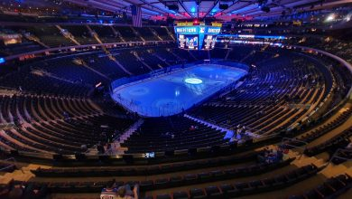 Photo taken inside the Madison Square Garden in advance of a New York Rangers game. Photo by Pedro Bariak on Unsplash.