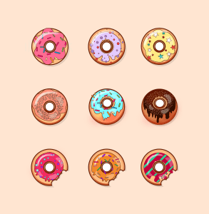 donut, sweets, baking