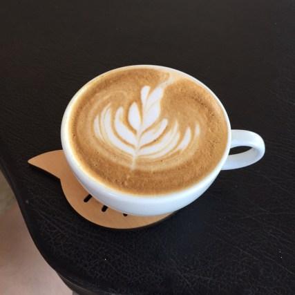Latte at Boy's Organic Coffee