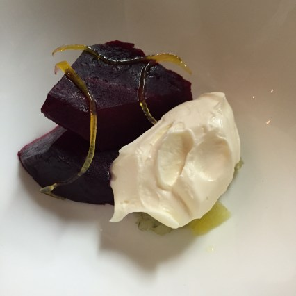 Salty Beetroot with Creme and Lemon