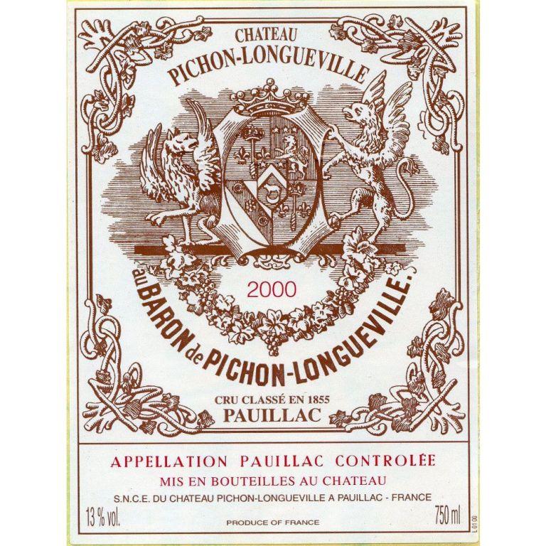 Chateau Pichon-Longueville Baron 2nd Growth Pauillac