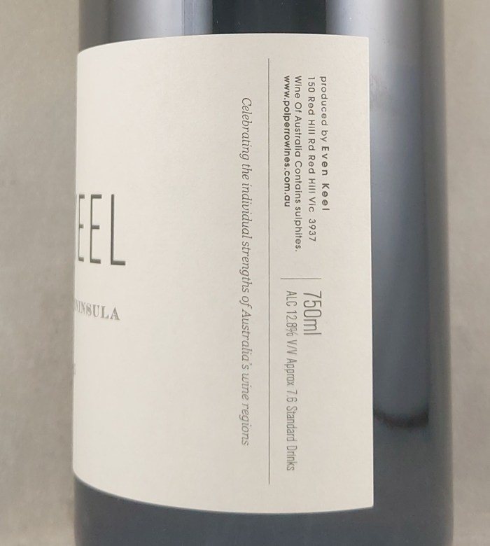 Polperro Even Keel Pinot Gris Mornington Peninsula 2020 Back Label