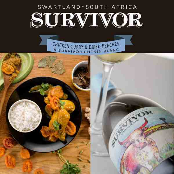 Food Pairing - Chicken Curry & Survivor Chenin Blanc