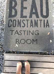 Beau constantia tasting room mat