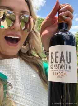 Beau constantia wine girl
