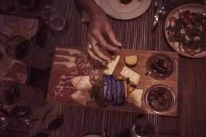 Anthonij Rupert Terra del Capo Cheese and meat platter Franschhoek