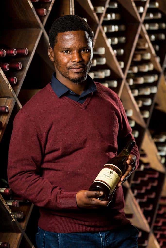Dumisani Mathonsi Zonnebloem white wine maker