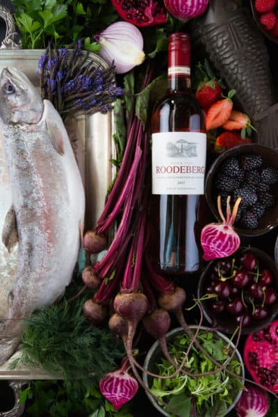 Roodeberg Rosé trout food and wine pairing