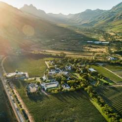 Stellenbosch Wine Routes South Africa drone photography