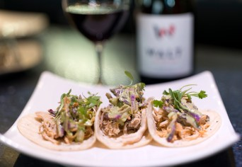 Chef's Special - Carpe Diem Wine Bar - Buffalo Chicken Tacos with Green Goddess Slaw