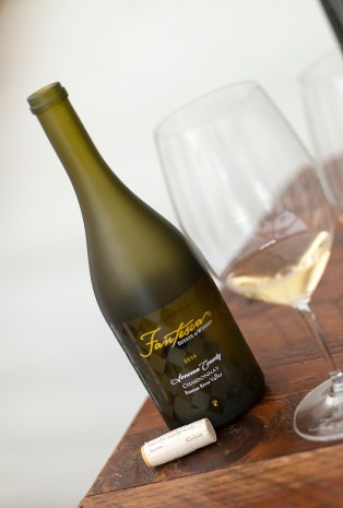 2014 Fantesca Chardonnay served in the safari tent overlooking the vineyard