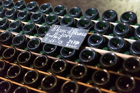Blanc de Blanc wines in fermentation in the wine cave - Schramsberg Vineyards