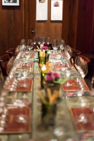Our private tasting room at Schramsberg Vineyards