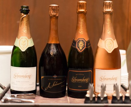 Our four sparkling wines we tasted after our tour - Schramsberg
