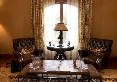 One of the cozy tasting areas at Fantesca Estate & Vineyards