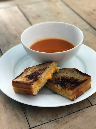 Grilled Cheese 7 Tomato Bisque on a cold afternoon