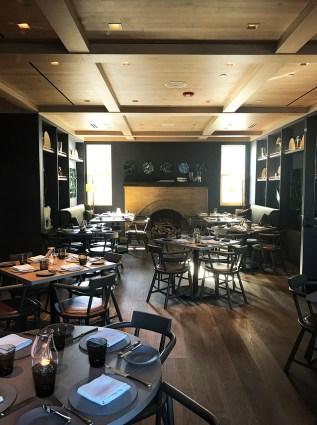 The dining room at Acacia House - Napa Valley