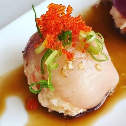 Eiko's Hamachi Bon-Bon - Sushi in Napa Valley