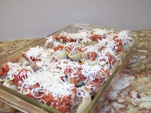 Assembling Veal Pasta Shells
