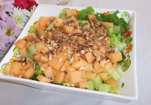 Melon and Crispy Prosciutto Salad