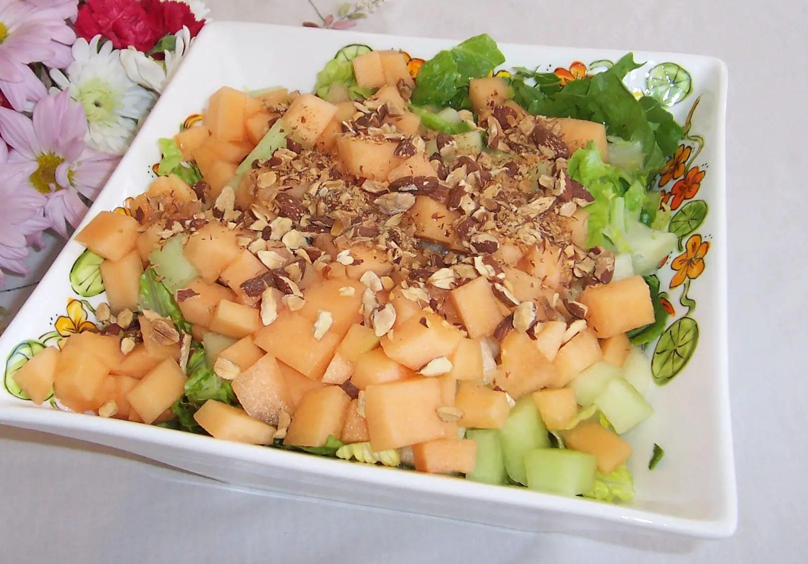 Melon and Crispy Prosciutto Salad