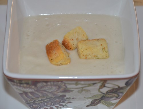 Champagne Roasted Cauliflower Soup