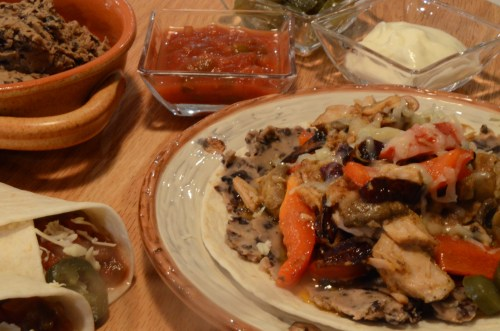 tostada-with-black-beans
