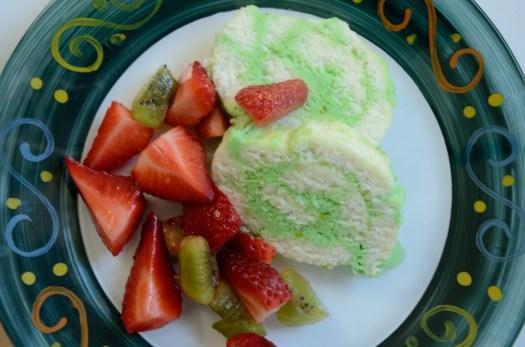 Pistachio Angel Food Roll