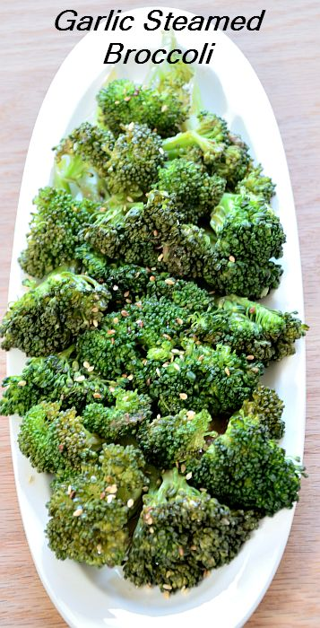 This Garlic Steamed Broccoli is a great side dish for an Asian inspired menu. The sesame oil and toasted sesame seeds give it a nutty, rich taste.