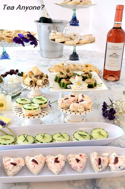 Why not spoil Mom and your guests with this elegant and tasty Mother's Day Luncheon Buffet of tea sandwiches and other delectable, dainty bites? Pull out the china and raid the garden for daffodils and pansies and you are well on your way!