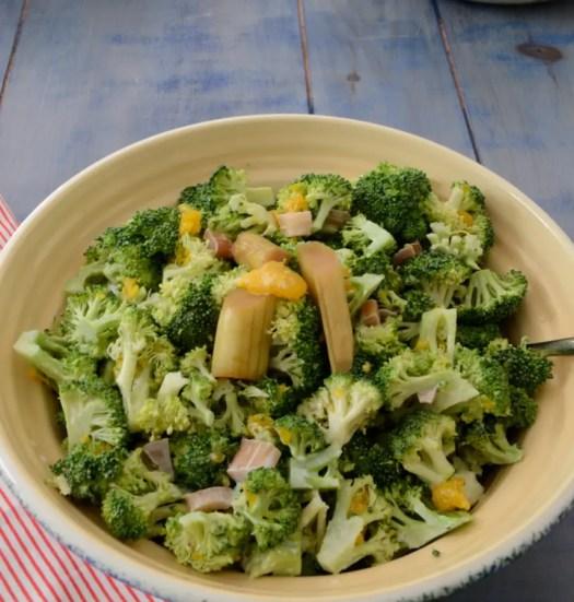 Broccoli Salad With Rhubarb Pickle