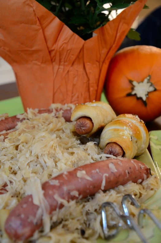 This Apple Onion Sauerkraut and Sausage is my new favourite sauerkraut recipe! I used to only make a savoury sauerkraut - without apples because I found it too sweet. This recipe changed all that!